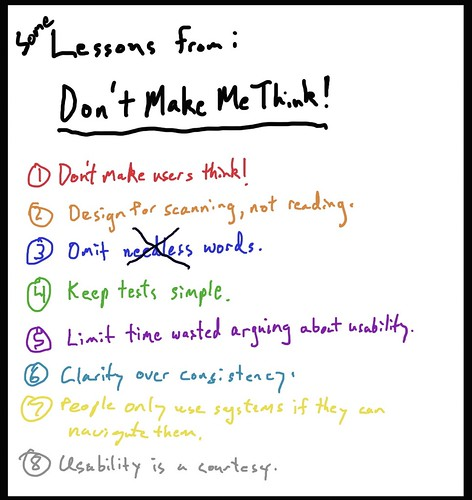 Lessons from Don't Make me Think