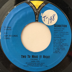 SEDUCTION:TWO TO MAKE IT RIGHT(LABEL SIDE-A)