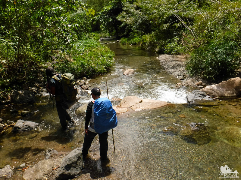 Crossing the Biasong River