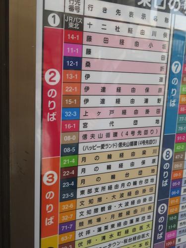 福島競馬場への路線バス