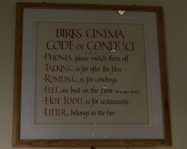 Aberfeldy Cinema Rules