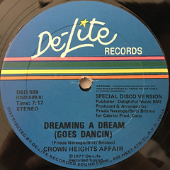 CROWN HEIGHTS AFFAIR:DANCIN'(SPECIAL DISCO MIX)(LABEL SIDE-B)