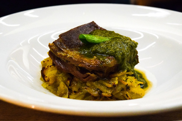 Mutton Breast with Green Sauce & Boulangerie Potatoes at Table Cafe, Southbank #mutton #greensauce #london