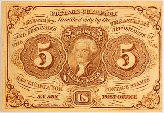 5 Cents First Issue Fractional Currency