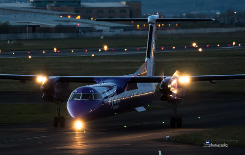 Late evening Flybe at Belfast City | by Paul J Harvey www.projectxphotography.co.uk