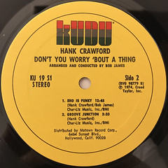 HANK CRAWFORD:DON'T TOU WORRY 'BOUT A THING(LABEL SIDE-B)