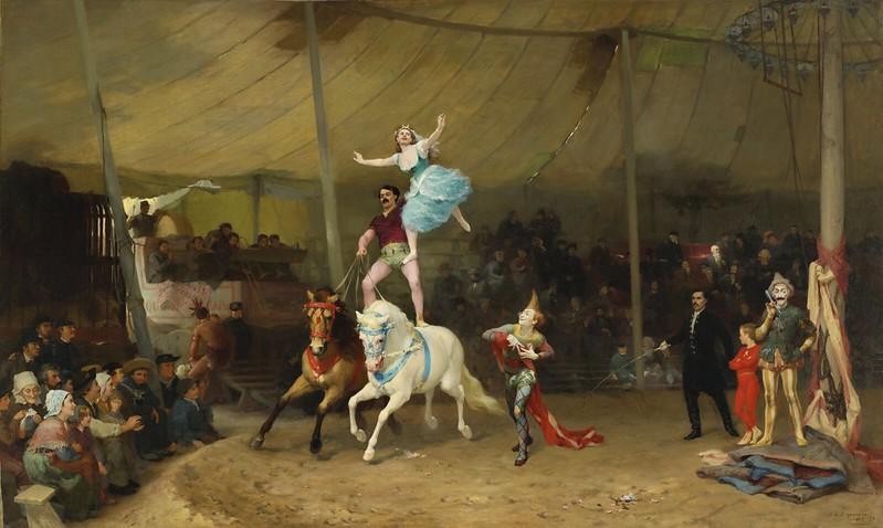 Frederick Arthur Bridgman - Un cirque en Province The American Circus (1870)