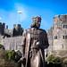 King Henry V11 Statue in front of Pembroke Castle Wales.