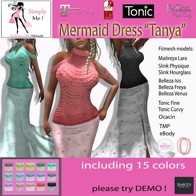 """[Simply Me!] Mermaid Dress """"Tanya"""""""