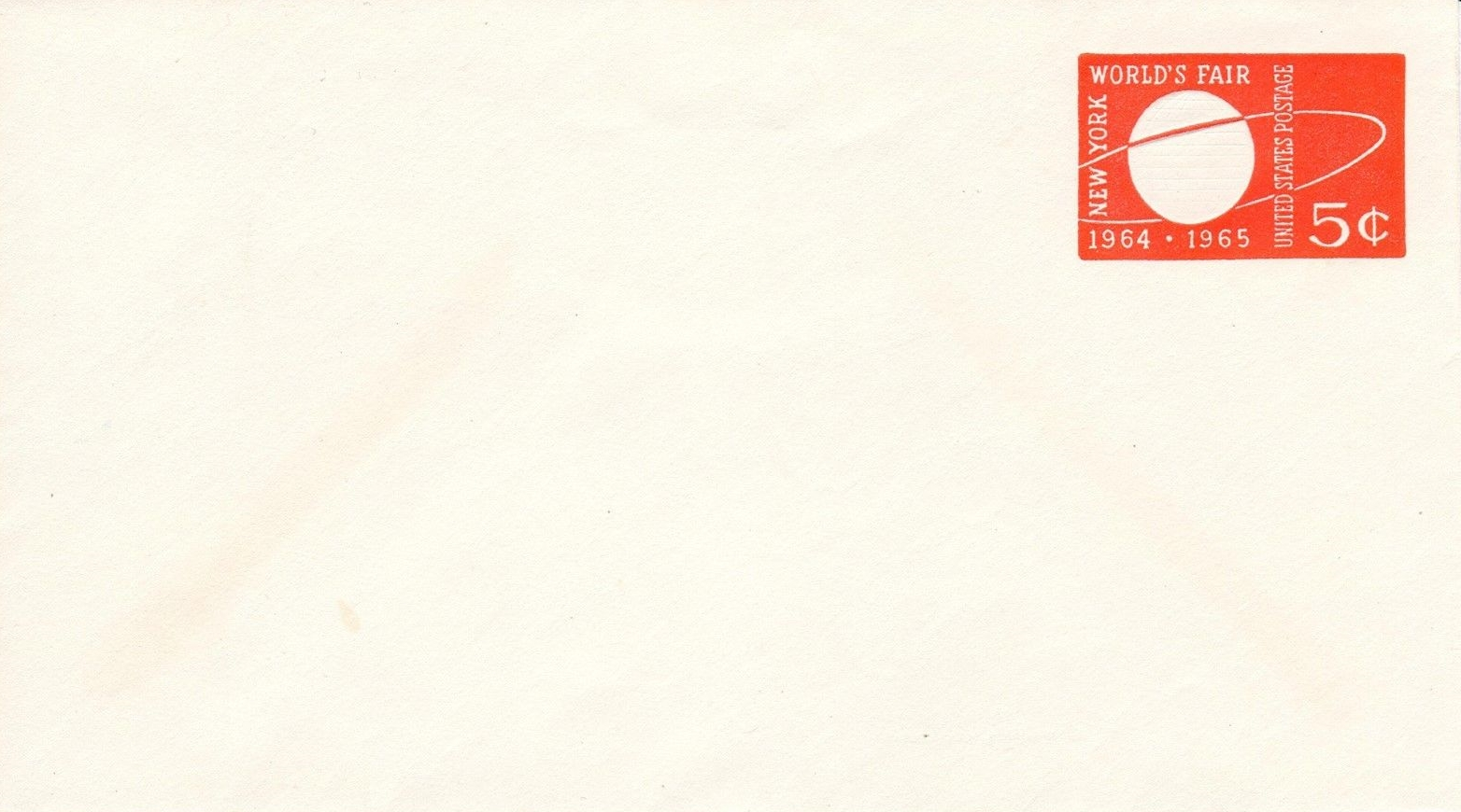 United States - Scott #546 (1964) - stamped embossed envelope, mint