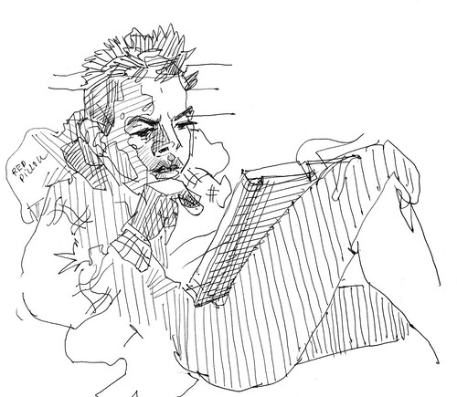 Sketchbook #112: Reading