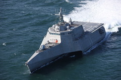 The future USS Tulsa (LCS 16) operates in the Gulf of Mexico during acceptance trials in March. (U.S. Navy/Austal USA)