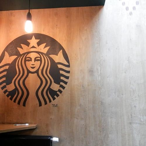 at Starbucks