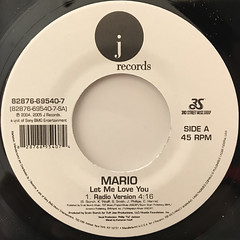 MARIO:LET ME LOVE YOU(LABEL SIDE-A)