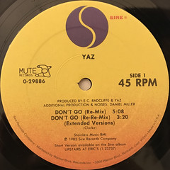 YAZ:DON'T GO(LABEL SIDE-A)