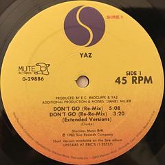 YAZ:DON'T GO(LABEL SIDE-A)