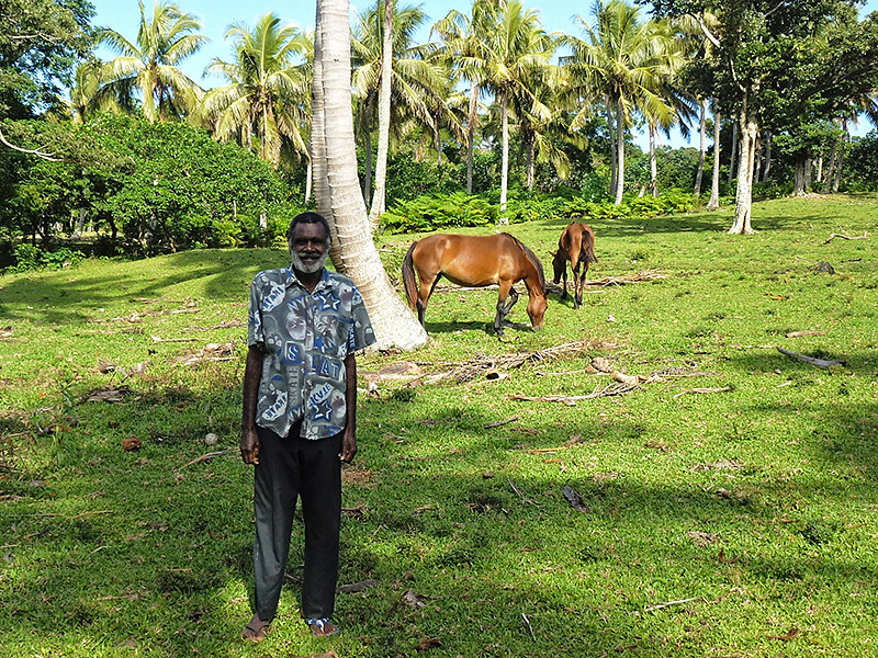 Chief Jack Kapum is the Paramount chief of the area and his advice is sought by many of the surround villages on Tanna island in Vanuatu