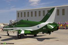8817 - 6Y002 - Saudi Hawks - Royal Saudi Air Force - British Aerospace Hawk 65A - Luqa Malta 2017 - 170923 - Steven Gray - IMG_0039