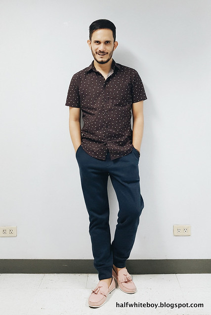 halfwhiteboy - micro floral shirt and pink shoes 03