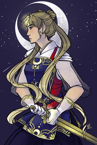 sailor moon. Artist Melissa Cordes