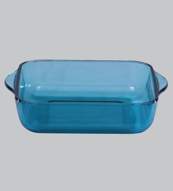 Square glass baking dish