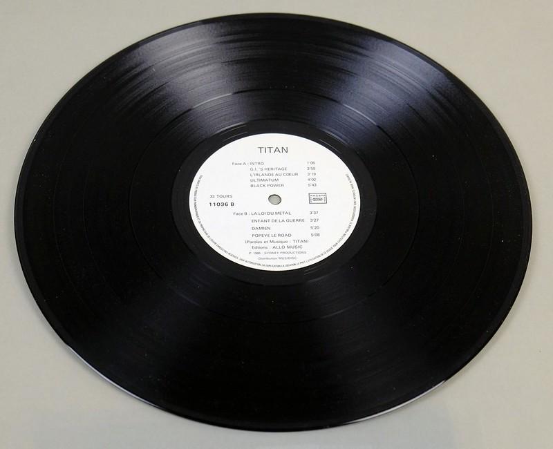 "TITAN - S/T Self-Titled OIS France SPEED METAL 12"" LP VINYL"