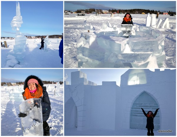 Snowking ice sculptures