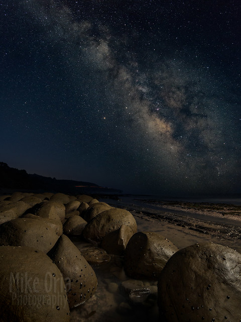 Milky Way over Bowling Ball Beach