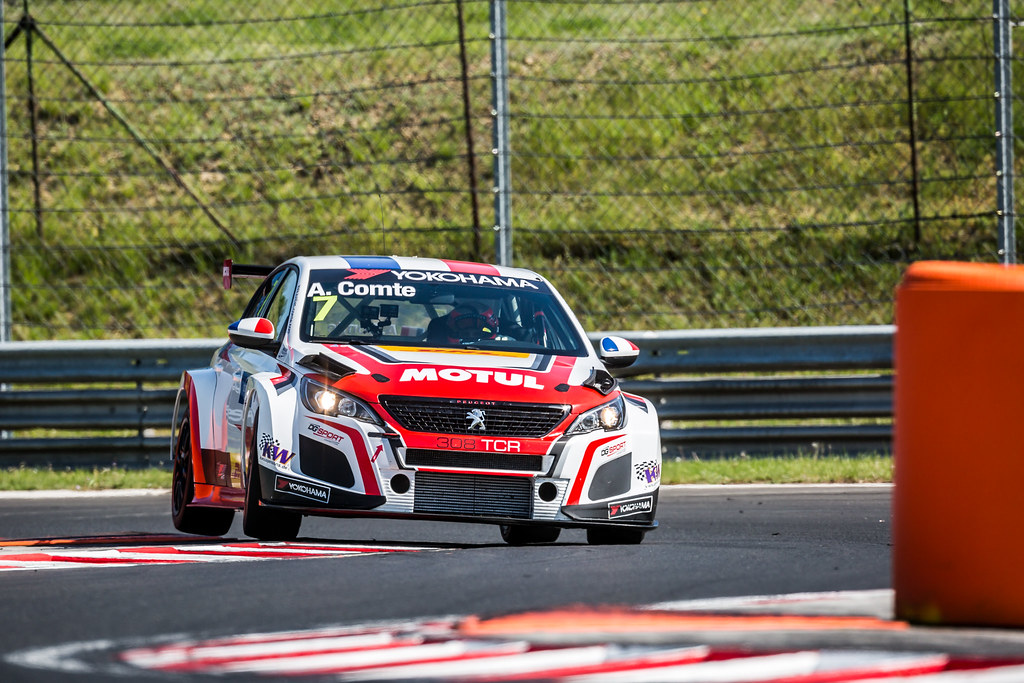 07 COMTE Aurelien (FRA), DG Sport Competition, PEUGEOT 308TCR, action during the 2018 FIA WTCR World Touring Car cup, Race of Hungary at hungaroring, Budapest from april 27 to 29 - Photo Thomas Fenetre / DPPI