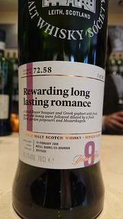 SMWS 72.58 - Rewarding long lasting romance