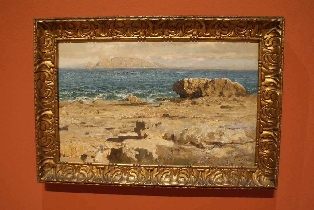"""Piccolo scoglio"" oeuvre de Lojacono au musée du GAM à Palerme."