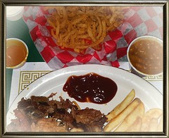 Day 87 of 365 -- Smoked Brisket & Chicken Dinner at Po Boy BBQ -- Cellphone Project 2018