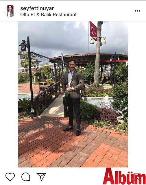 Seyfettin Uyar, Olta Et & Balık Evi'nde keyifli bir gün geçirdi.