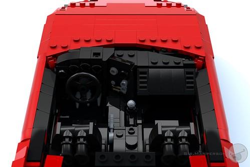 Toyota Supra dashboard - 16-wide - Lego