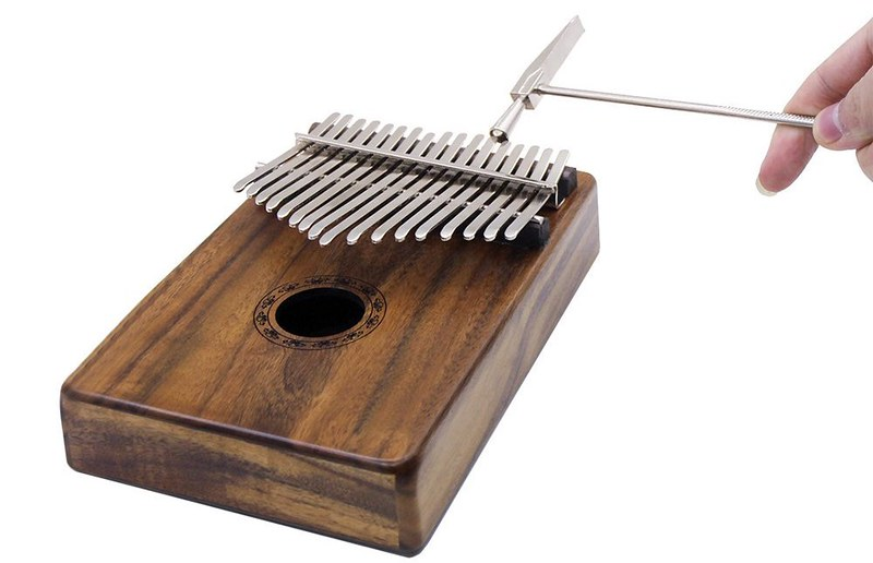 ammoon 17キーカリンバ ポケット親指ピアノ ソリッドアカシア 楽器ギフト 初心者の音楽愛好家用 (6)
