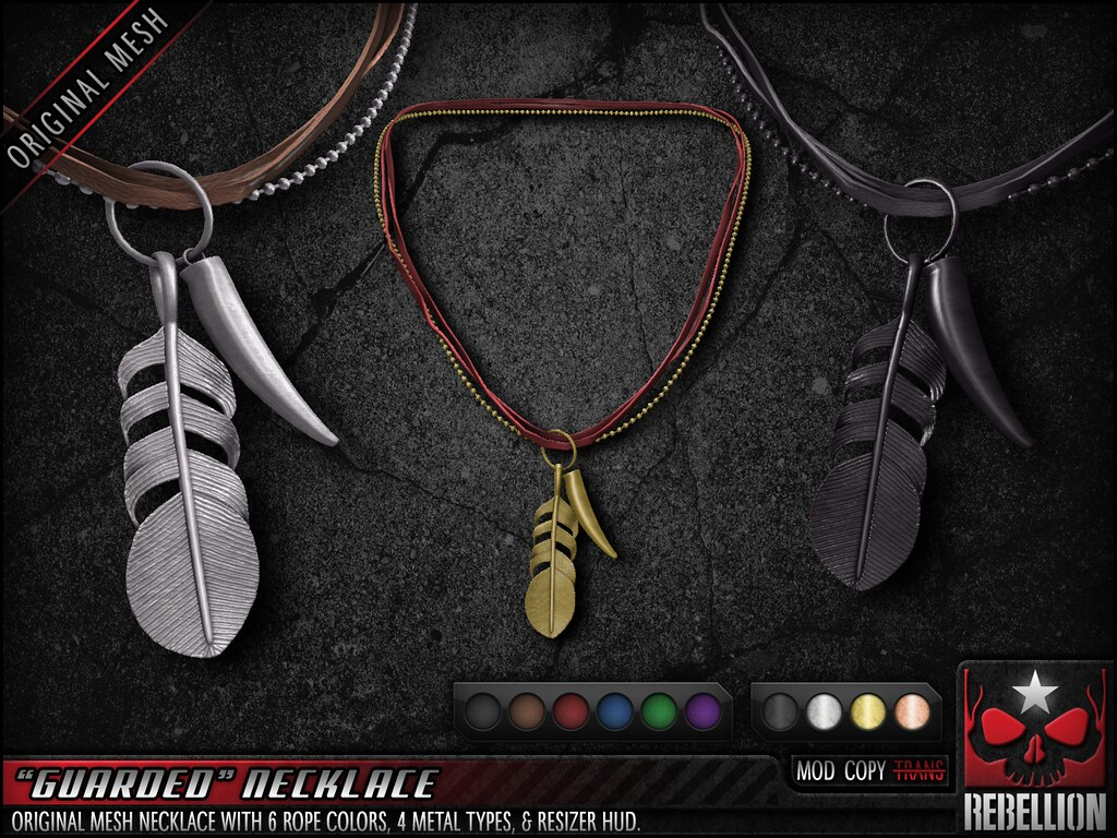"= REBELLION = ""GUARDED"" NECKLACE"
