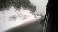 Snowfall on the way to Nathu La pass, Sikkim