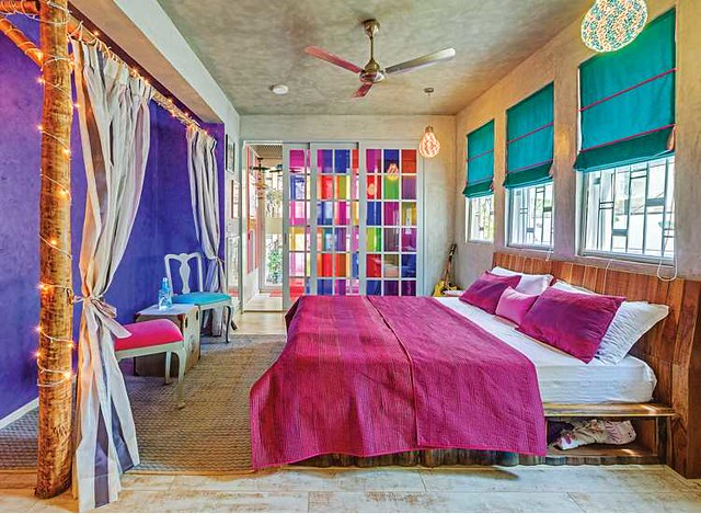 Can a bedroom get more colorful than this?