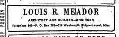 Louis R. Meador, Archt. Advert.