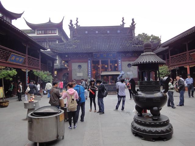 Temple du Dieu dans Nanshi, la vieille ville à Shanghai