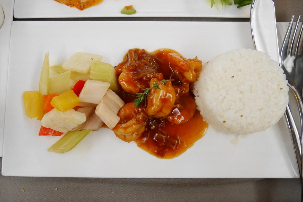 土耳其航空商務艙海鮮餐主餐