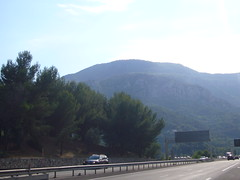 France, A-8 near Gorbio [29.07.2011]