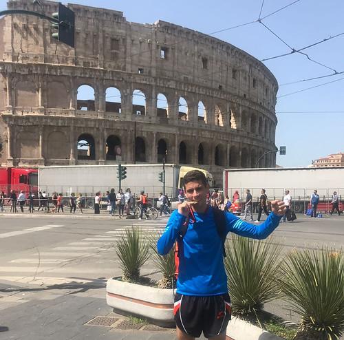 Francisco J. Palacios Vázquez en el Maratón de Roma
