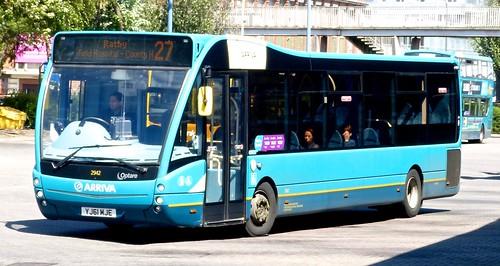 YJ61 MJE 'Arriva Midlands' No. 2942. Optare Versa V1110 on 'Dennis Basford's railsroadsrunways.blogspot.co.uk'