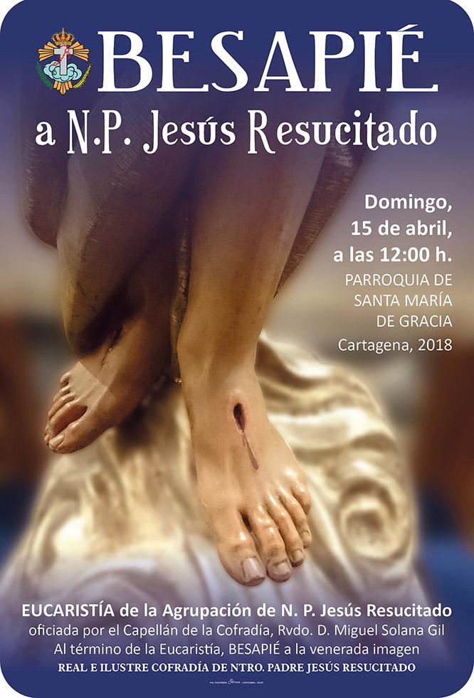 Besapié al Jesús Resucitado