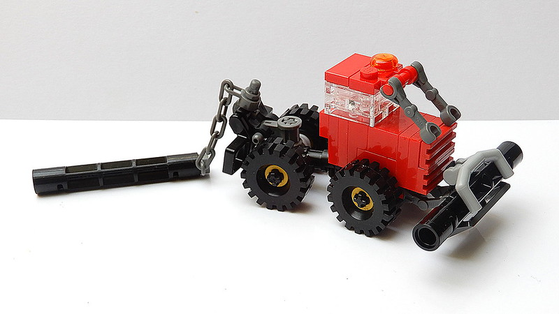 How to Build a Small Lego Forest Cable Skidders (MOC - 4K)