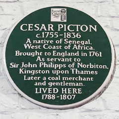 Photo of Cesar Picton black plaque