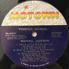 MICHAEL JACKSON:FOREVER, MICHAEL(LABEL SIDE-B)