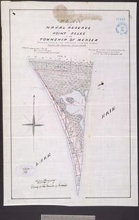"""""""Plan of the Naval Reserve at Point Pelee in the Township of Mersea…,"""" Ontario / Plan de la Réserve navale  de la Pointe-Pelée, dans le canton de Mersea (Ontario)"""