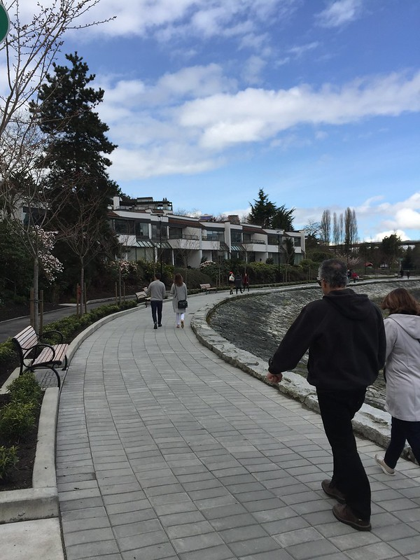 New improved seawall path